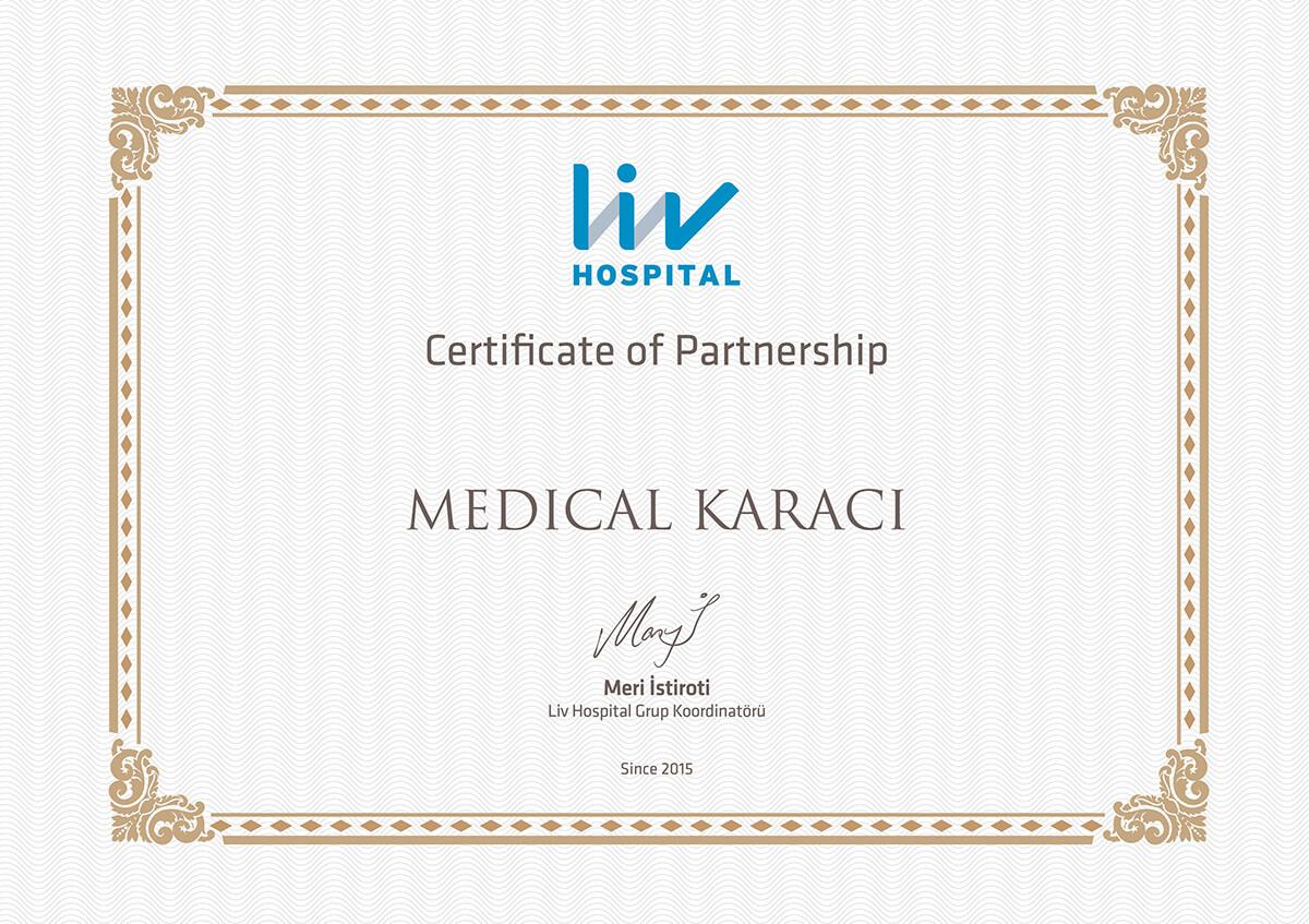 Сертификат болница Лив