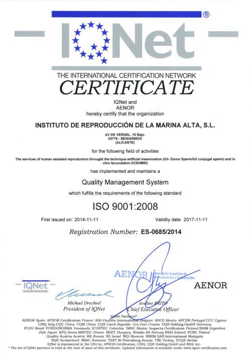 Ин витро клиника Iremа - сертификат_003
