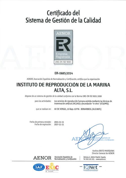 Ин витро клиника Iremа - сертификат_002