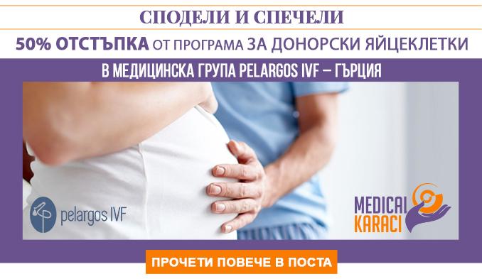 """Сподели и спечели """"50% отстъпка от програма за донорски яйцеклетки"""" в Медицинска група Pelargos IVF – Гърция"""